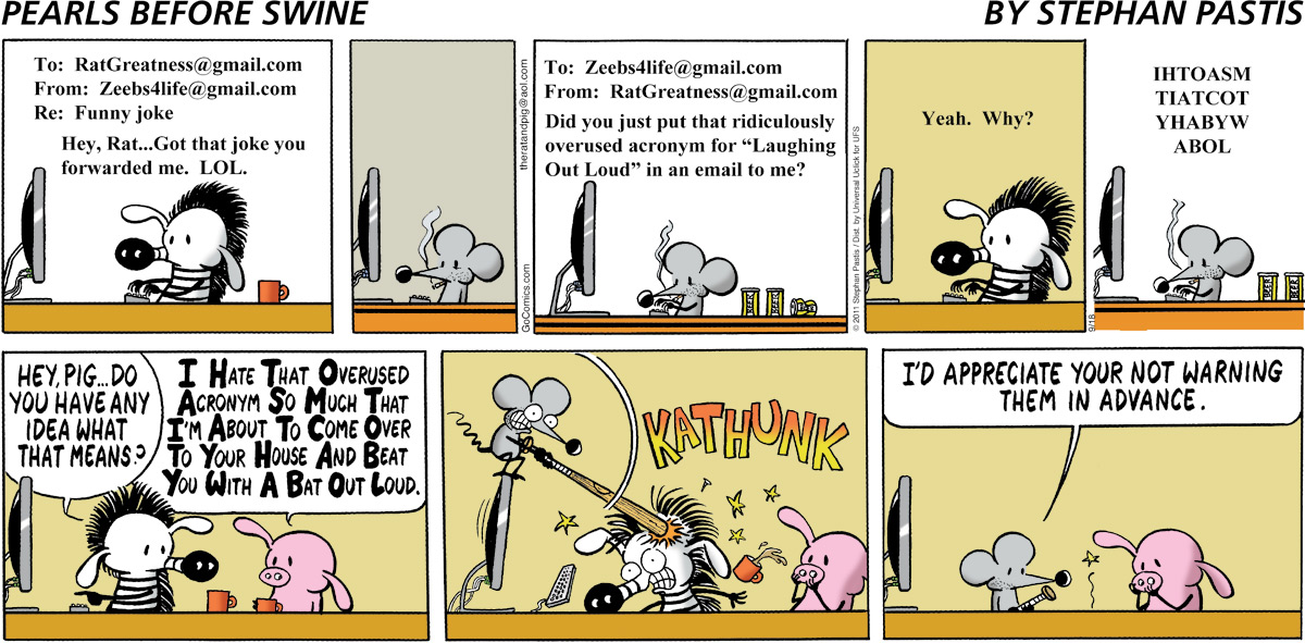 Pearls Before Swine for Sep 18, 2011 Comic Strip