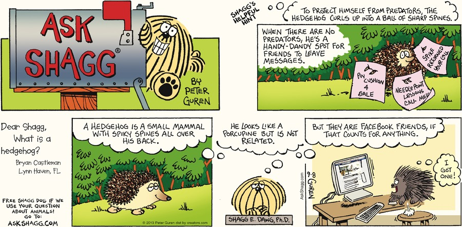 Ask Shagg for Sep 8, 2013 Comic Strip