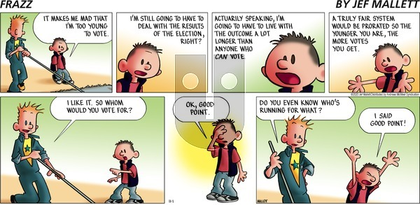 Frazz on Sunday November 1, 2020 Comic Strip