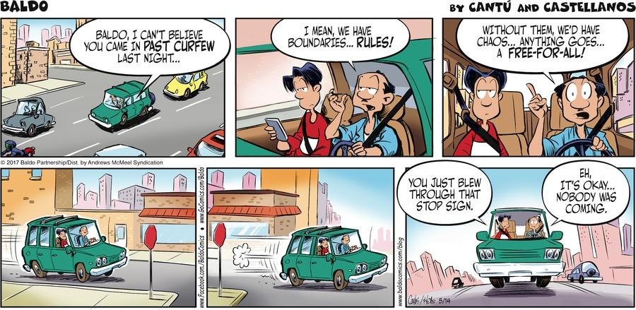 Baldo Comic Strip for May 14, 2017
