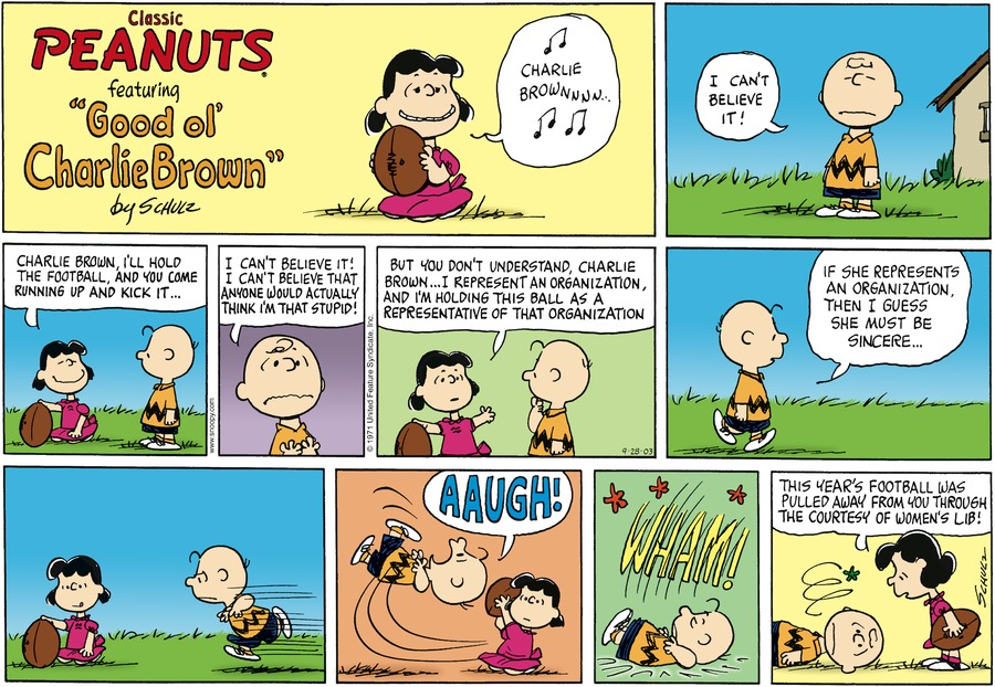 Peanuts Comic Strip for September 28, 2003