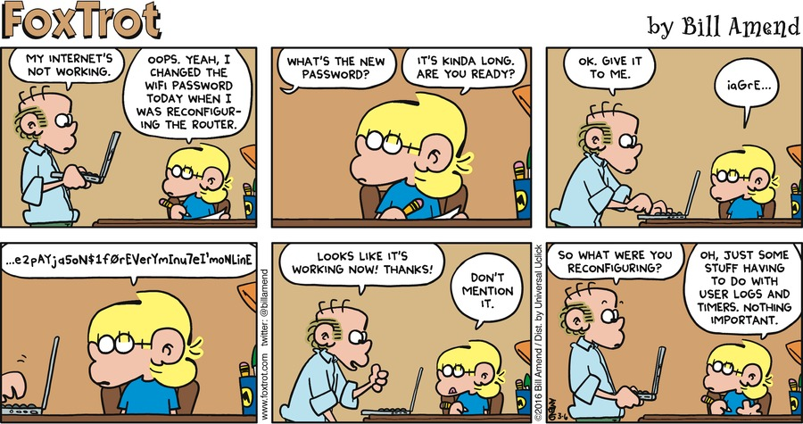 FoxTrot Comic Strip for March 06, 2016