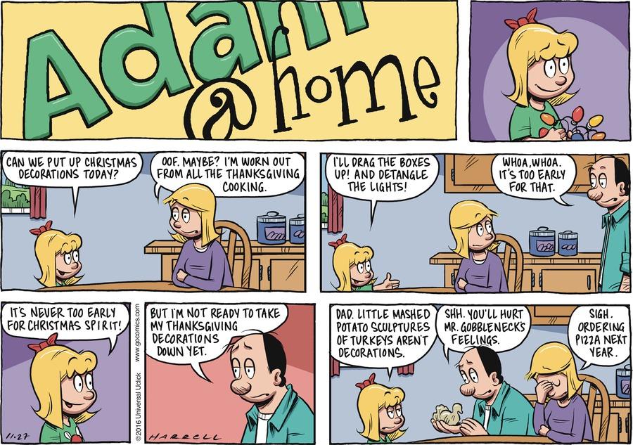 Adam@Home Comic Strip for November 27, 2016