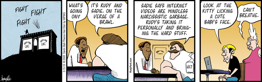 Rudy Park by Darrin Bell and Theron Heir for March 13, 2019