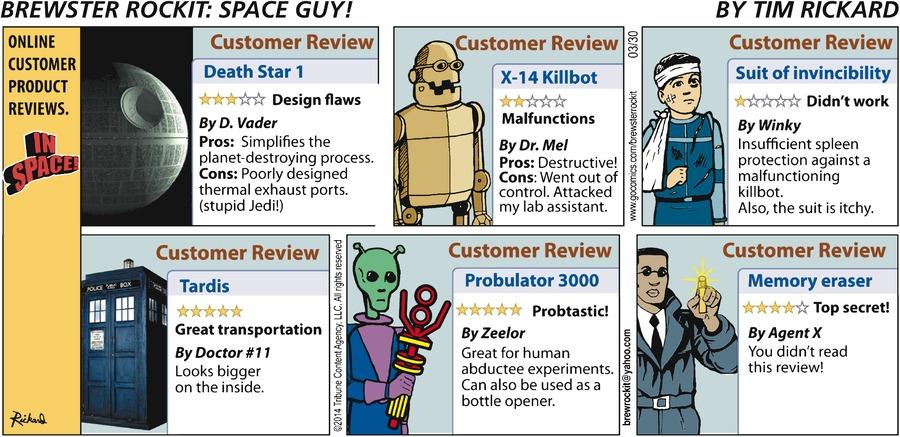 Brewster Rockit for Mar 30, 2014 Comic Strip