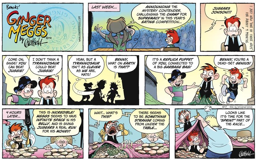 Ginger Meggs for Aug 17, 2014 Comic Strip