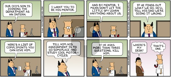 Dilbert - Sunday September 2, 2007 Comic Strip
