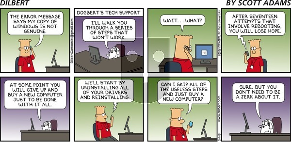 Dilbert on Sunday March 1, 2015 Comic Strip