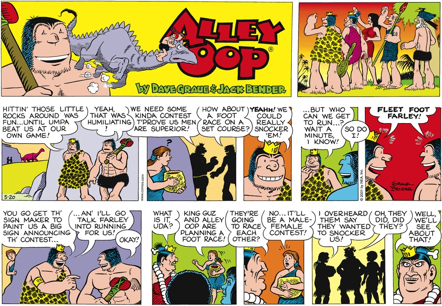Alley Oop for May 20, 2001 Comic Strip
