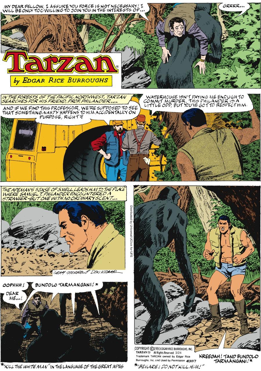 Tarzan for Mar 24, 2013 Comic Strip