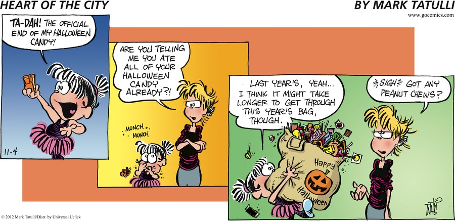Heart of the City for Nov 4, 2012 Comic Strip