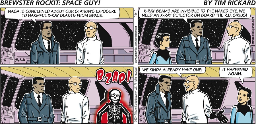 Brewster Rockit for Jan 19, 2014 Comic Strip