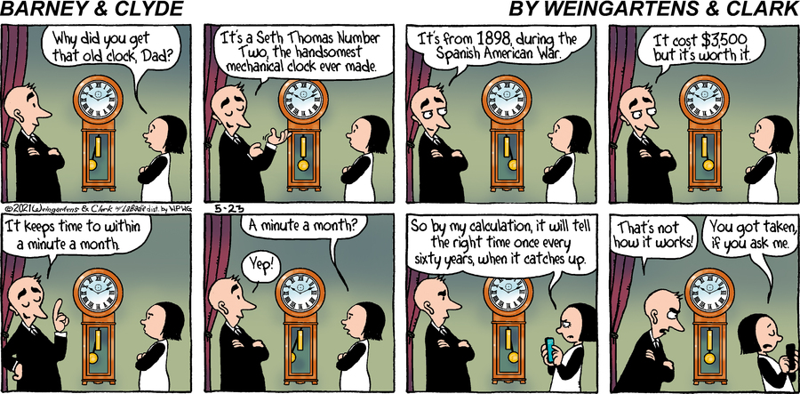 Barney & Clyde Comic Strip for May 23, 2021