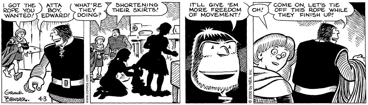 Alley Oop for Apr 3, 2000 Comic Strip