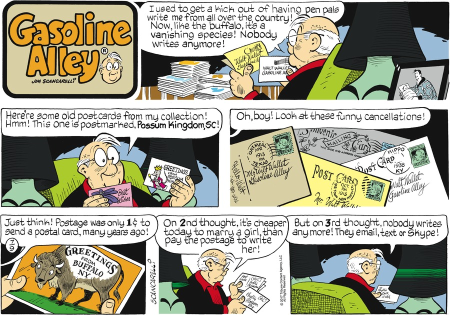 Gasoline Alley Comic Strip for July 09, 2017