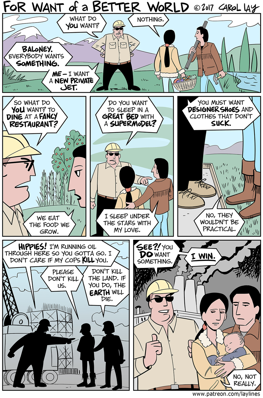 Lay Lines Comic Strip for April 17, 2017