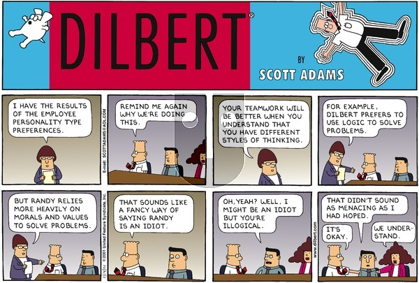 Dilbert - Sunday January 14, 2001 Comic Strip