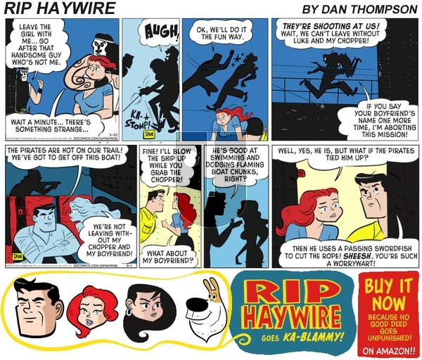 Rip Haywire on Sunday June 25, 2017 Comic Strip