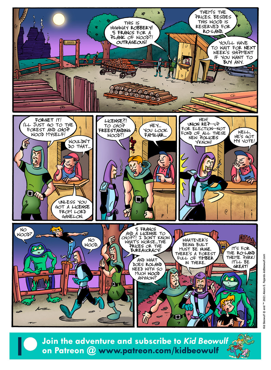 Kid Beowulf Comic Strip for April 26, 2021