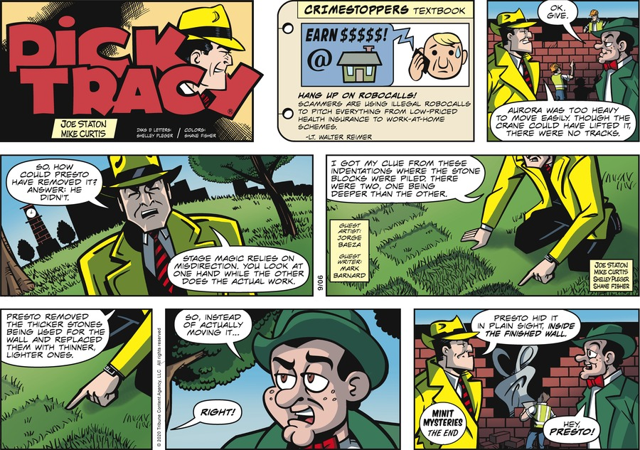 Dick Tracy Comic Strip for September 06, 2020