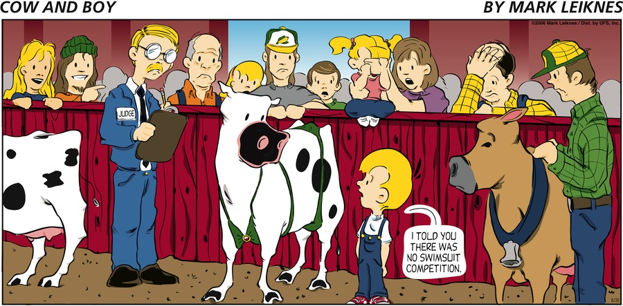 Cow and Boy Classics Comic Strip for July 01, 2020