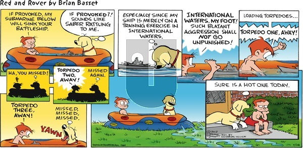 Red and Rover on Sunday July 28, 2013 Comic Strip