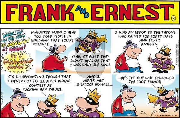 Frank and Ernest - Sunday May 17, 2020 Comic Strip