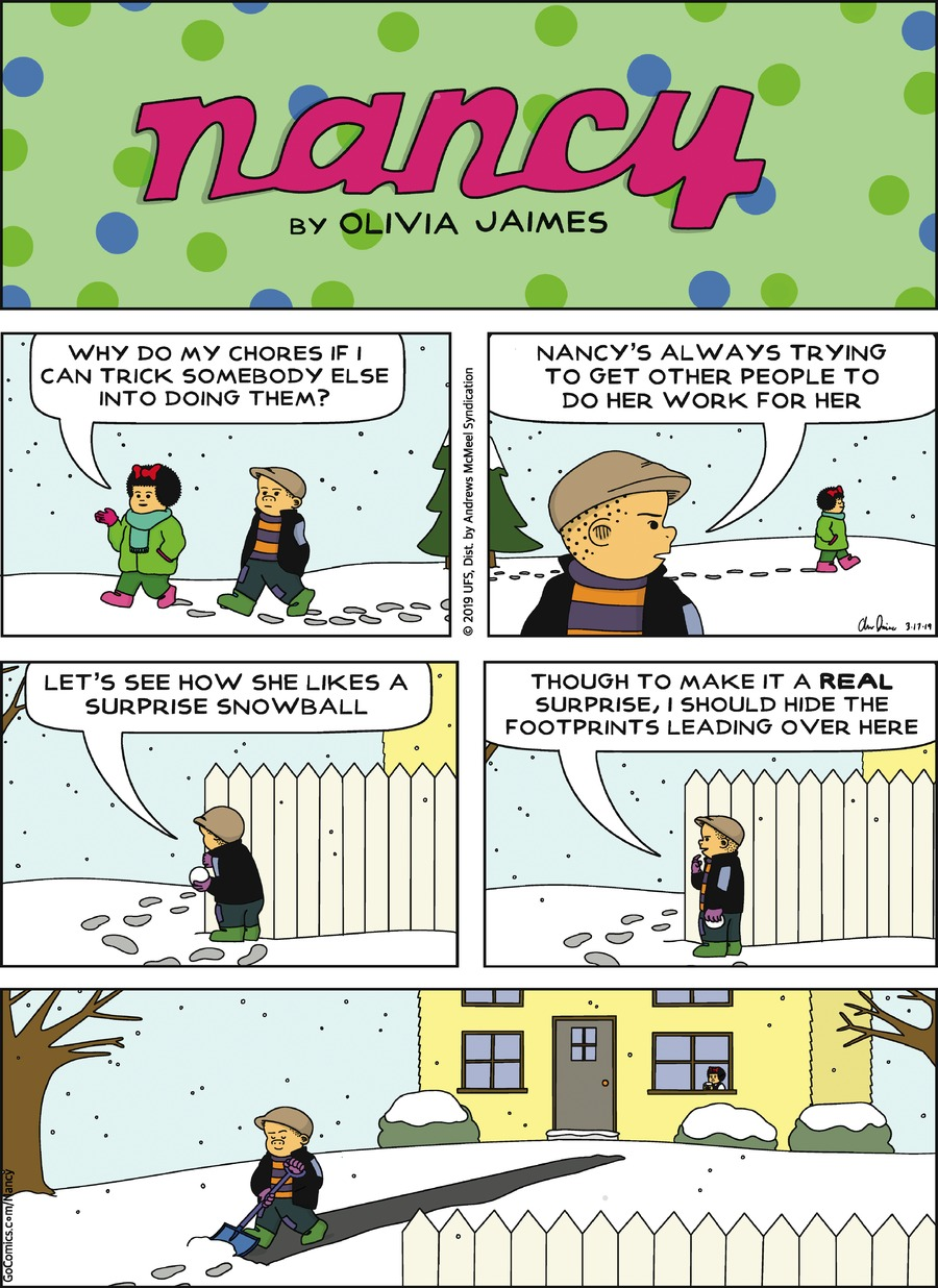 Nancy by Olivia Jaimes for March 17, 2019