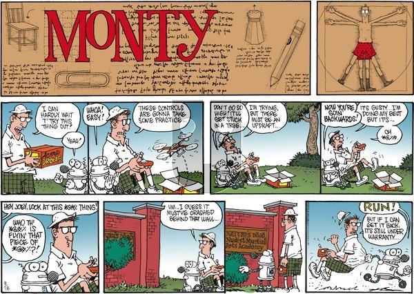 Monty on Sunday September 18, 2016 Comic Strip