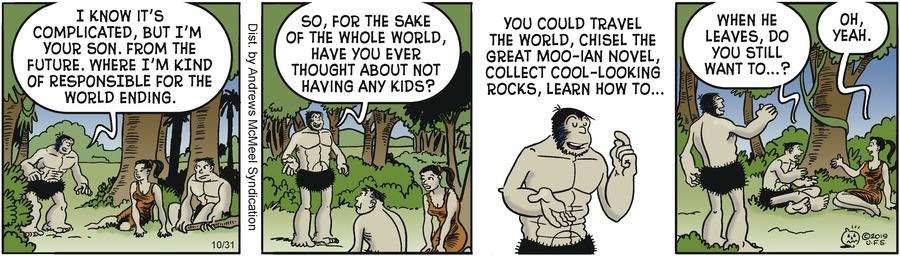 Alley Oop Comic Strip for October 31, 2019