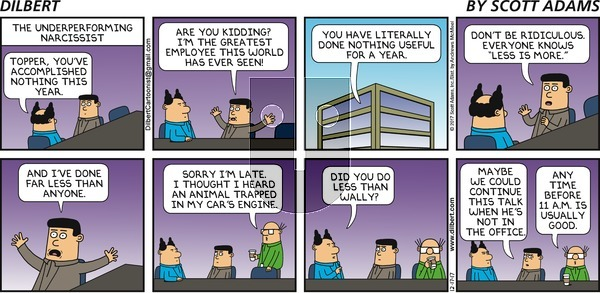 Dilbert on Sunday December 17, 2017 Comic Strip