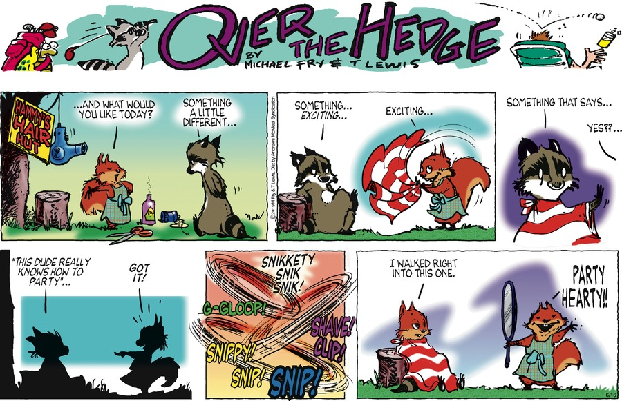 Over the Hedge Comic Strip for June 16, 2019