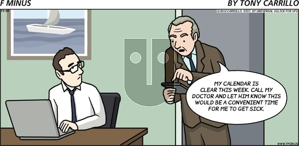 F Minus - Sunday November 18, 2012 Comic Strip