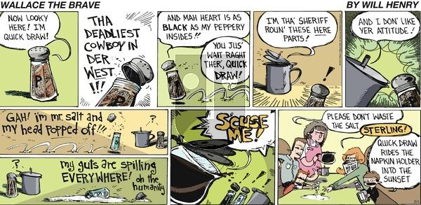 Wallace the Brave on Sunday July 1, 2018 Comic Strip