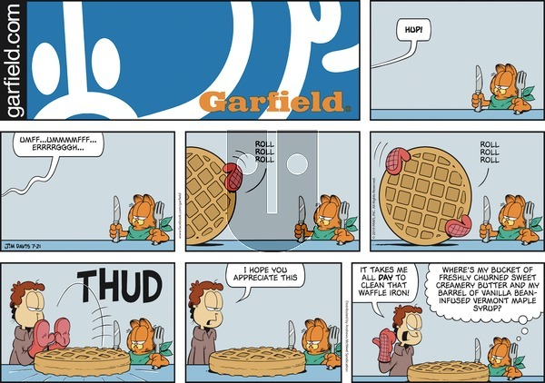 Garfield on Sunday July 21, 2019 Comic Strip
