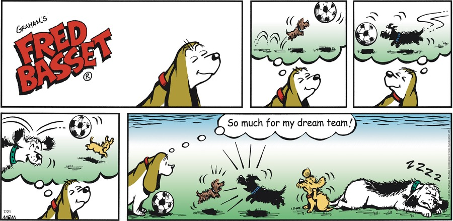 Fred Basset Comic Strip for July 21, 2019