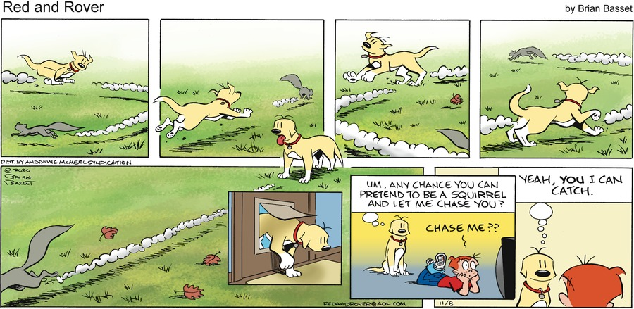 Red and Rover Comic Strip for November 08, 2020