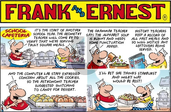 Frank and Ernest on Sunday August 25, 2019 Comic Strip