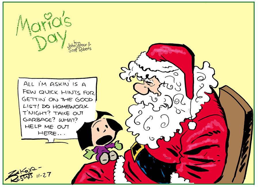 Maria's Day Comic Strip for November 27, 2016