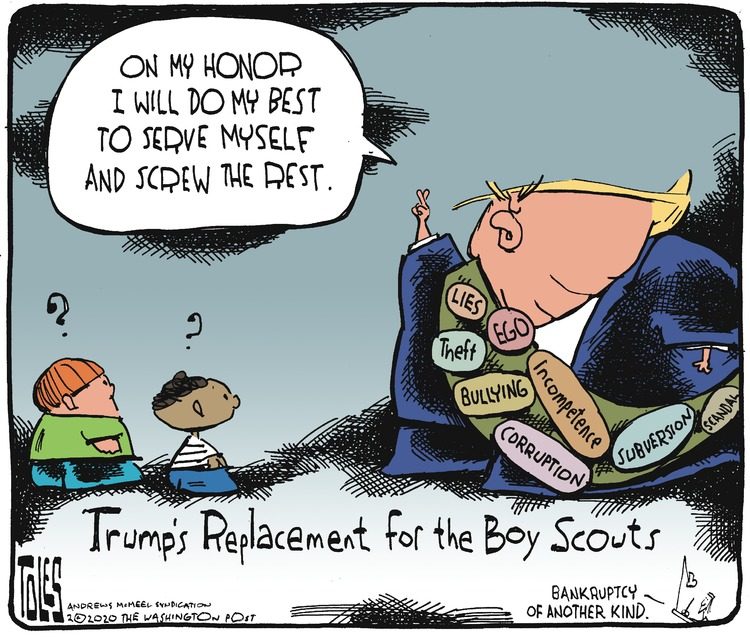Tom Toles Comic Strip for February 23, 2020