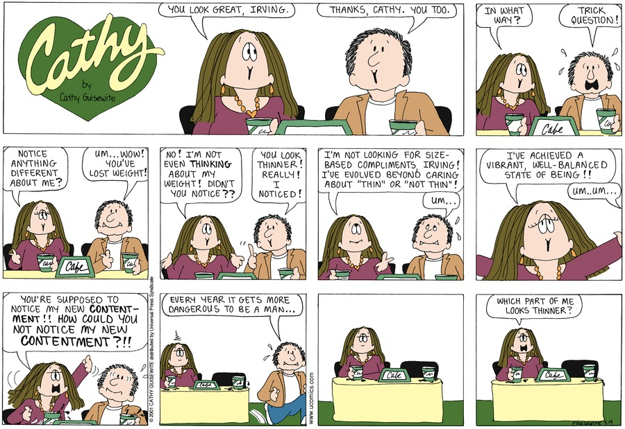 Cathy for Sep 9, 2012 Comic Strip