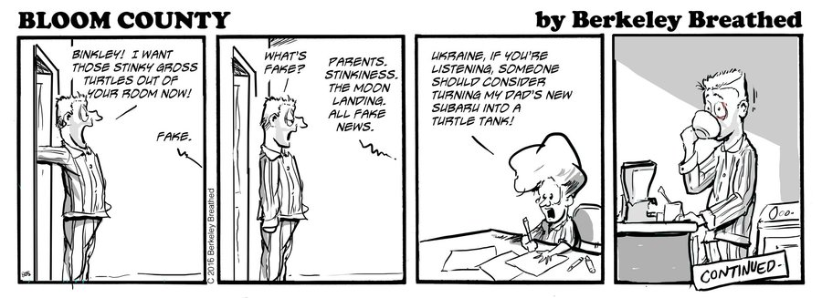 Bloom County 2019 by Berkeley Breathed for September 29, 2019