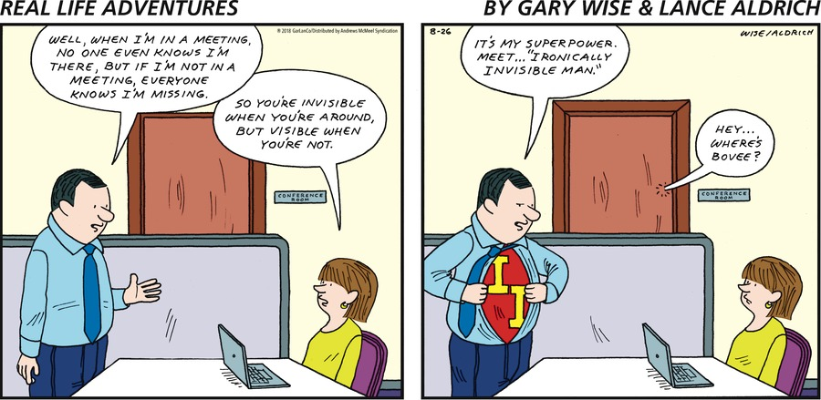 Real Life Adventures Comic Strip for August 26, 2018