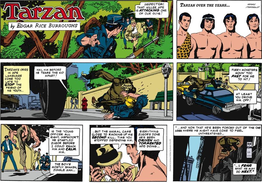Tarzan Comic Strip for May 09, 2021