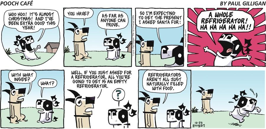 Pooch Cafe Comic Strip for December 23, 2012