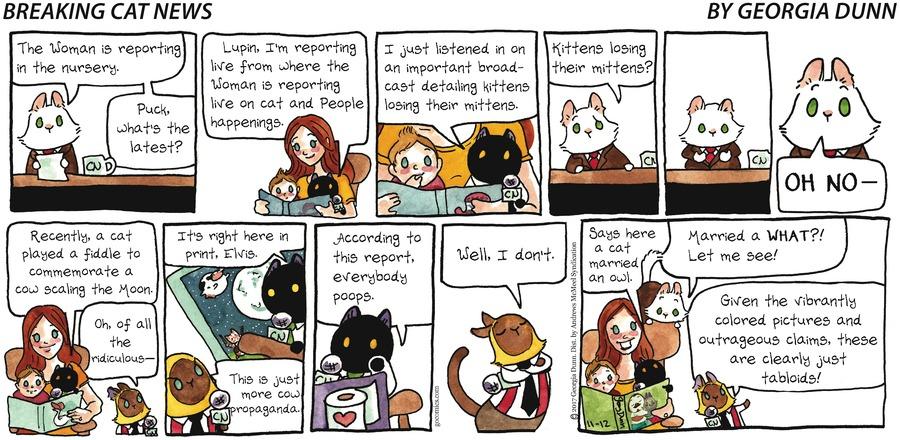 Breaking Cat News for Nov 12, 2017 Comic Strip