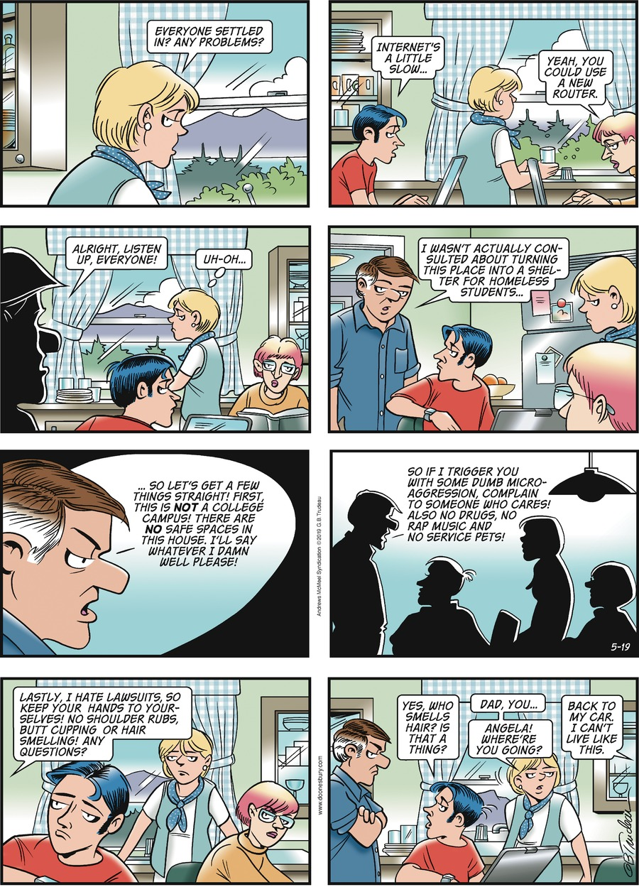 Doonesbury by Garry Trudeau for May 19, 2019