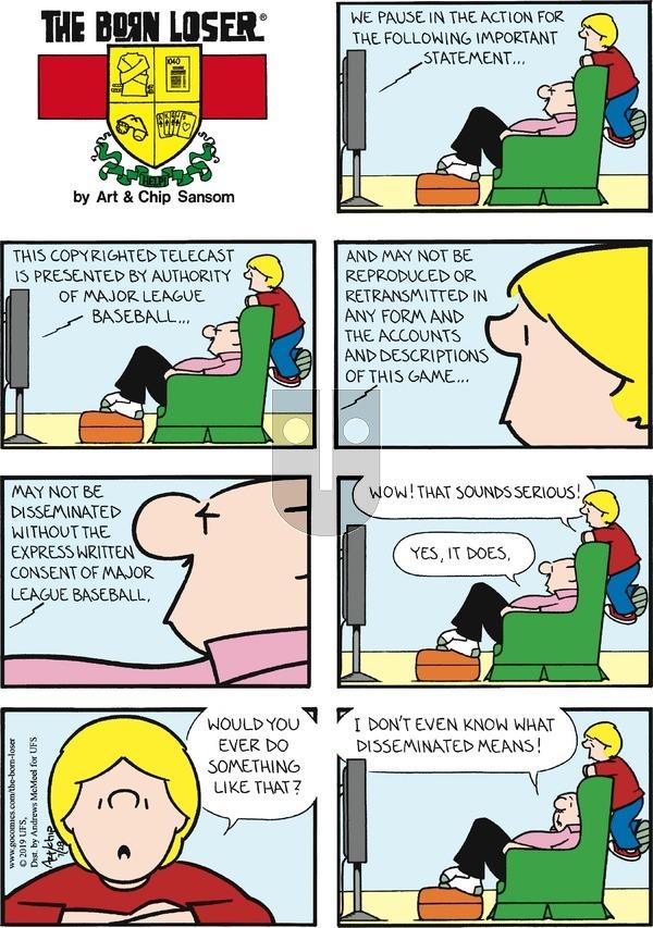 The Born Loser - Sunday July 28, 2019 Comic Strip
