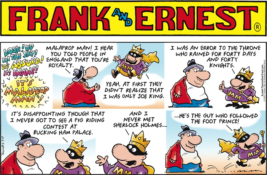 Frank and Ernest Comic Strip for May 17, 2020