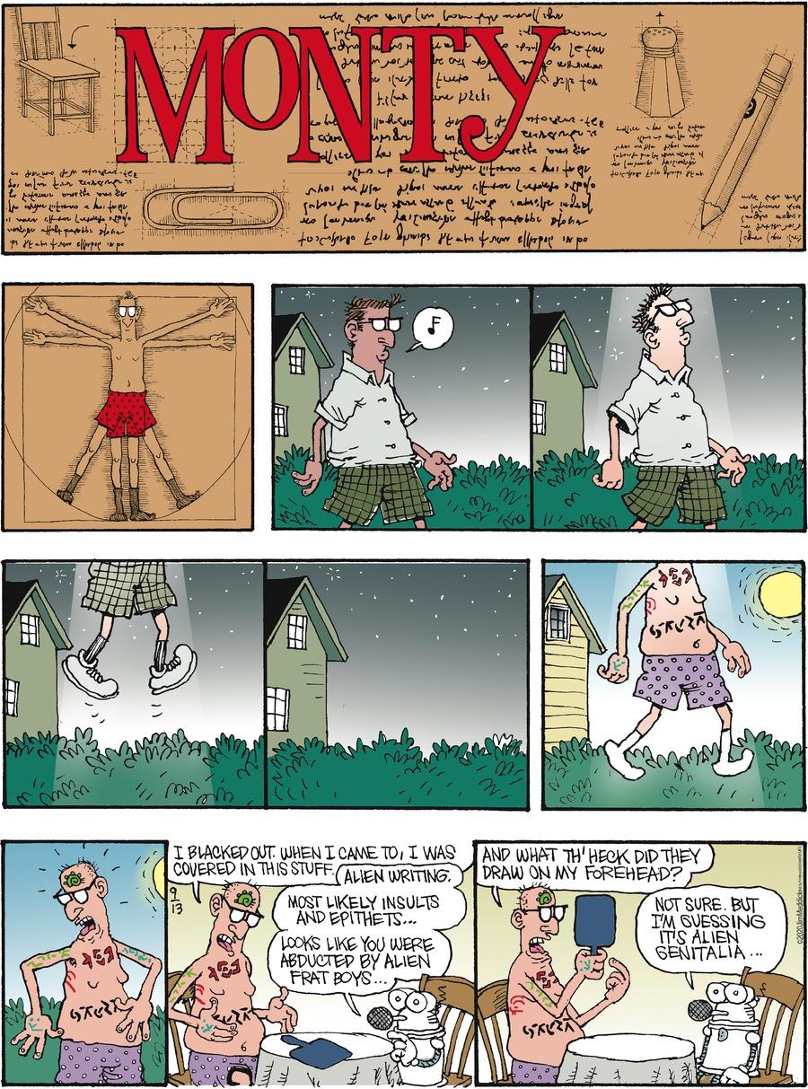 Monty Comic Strip for September 13, 2020